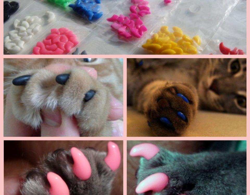 силиконовые накладки на когти для кошек